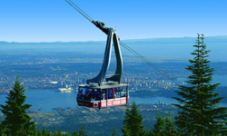 View from Grouse Mountain on North Shore