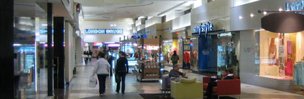 Picture of a shopping centre with shoppers